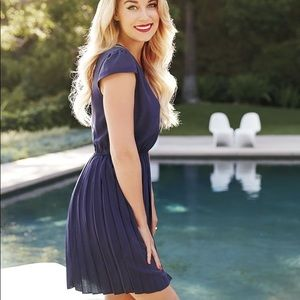 LC Lauren Conrad Dresses - LC Lauren Conrad Navy Blue Skater Dress • Size M